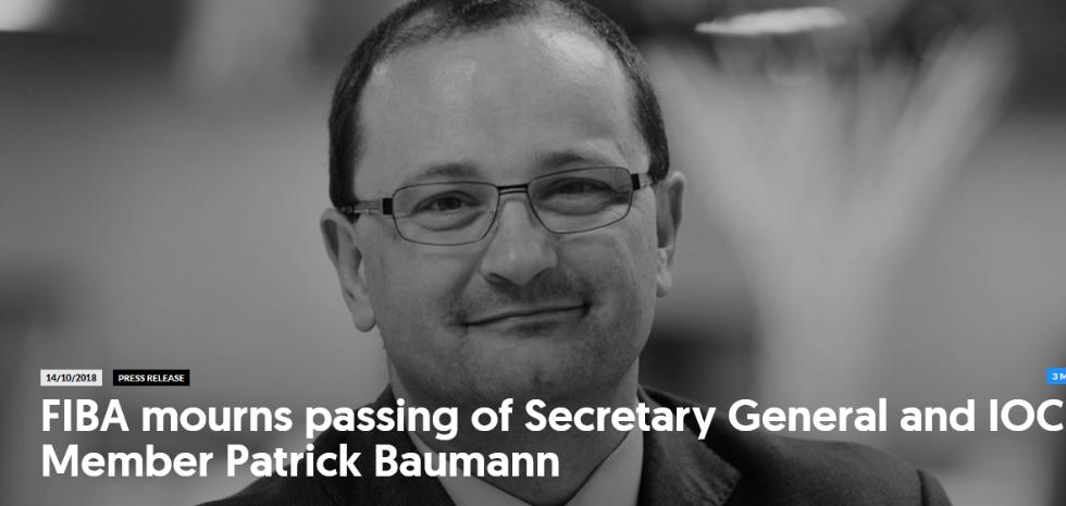 鲍曼辞世国际奥委会降半旗3日 巴赫致辞沉重悼念