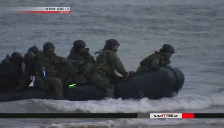 日本自卫队与美军首次在日本开展两栖联合训练