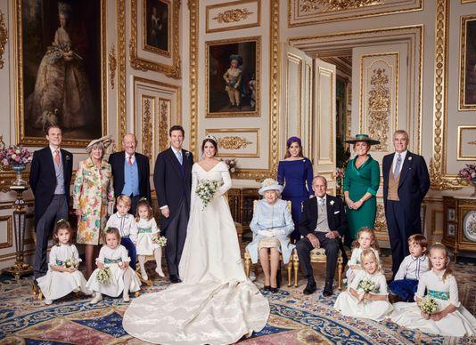 英国尤金妮公主大婚 婚礼现场照片曝光
