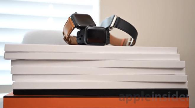 苹果Apple Watch Series 4新款表带上手
