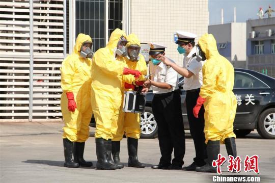 广东湛江举行口岸核生化因子突发事件应急处置演练