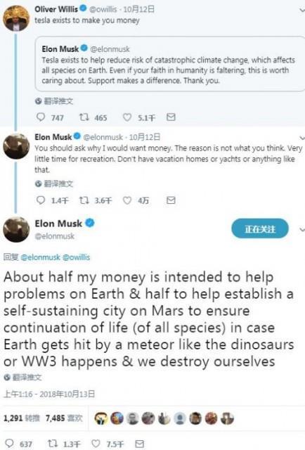 如何处理个人财富?马斯克:一半地球、一半火星