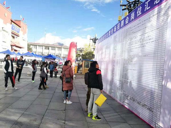 西藏高校毕业生专场招聘会暨创业创新产品推介会举行