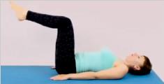 简单的下腹肌肉普拉提练习