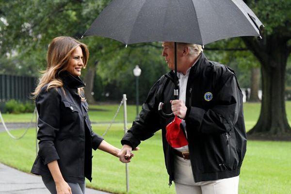 """特朗普前往佛罗里达州视察飓风""""迈克尔""""灾情"""
