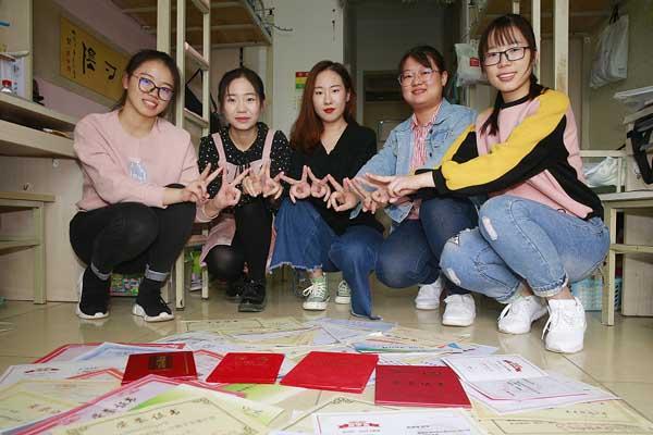 天津科技大学一宿舍女生均为学霸 都获重点院校保研资格
