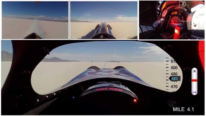 Vesco Turbinator II赛车速度首次超越500mph