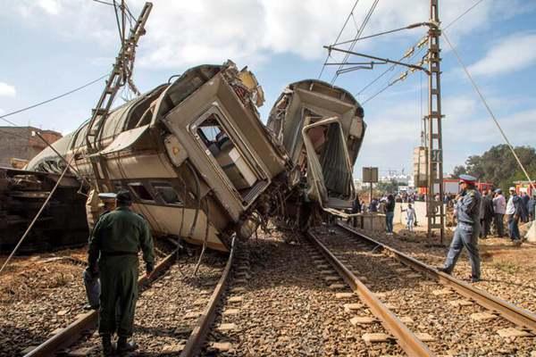 摩洛哥一列火车脱轨 造成至少6人死72人伤