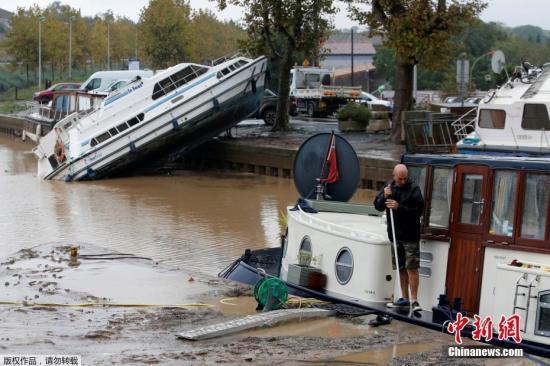 法国南部发生百年不遇洪灾 已致12人死亡