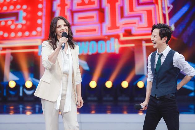 朱丽叶·比诺什献中国综艺首秀 收放自如演技在线