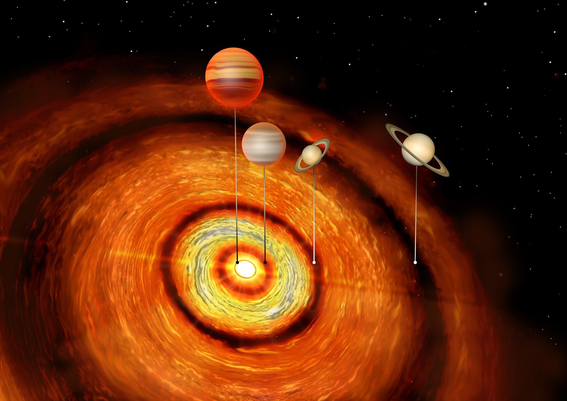 三颗气态巨行星的发现引发人类对行星形成的质疑