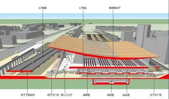 清河站封顶 分流北京北站客运量
