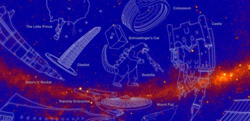 """NASA命名新星座 哥斯拉、绿巨人都""""上天""""了"""