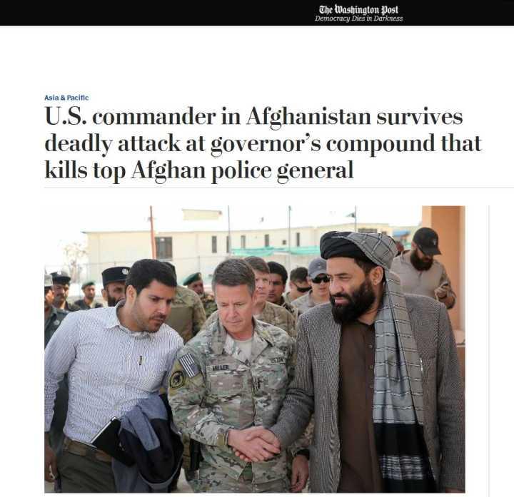保镖突然拔枪!北约及阿富汗高层遭扫射致3死 美军司令逃生