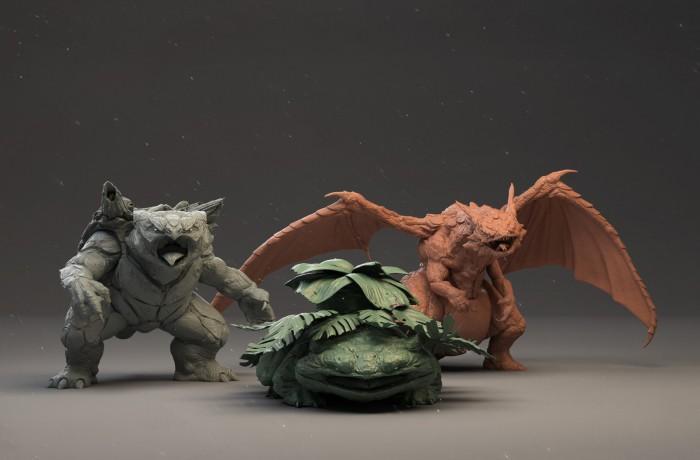 "3D建模师打造""真实版""宝可梦妙蛙花喷火龙"