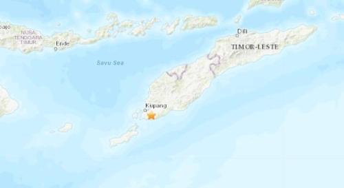 印尼南部地区发生5.1级地震 震源深度3.2公里
