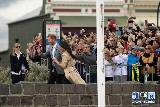 英国哈里王子夫妇访问墨尔本(组图)