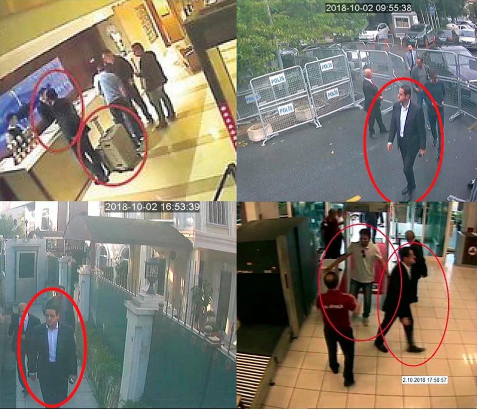 """美媒指沙特王储""""保镖""""熟悉卡舒吉案,四张照片证其在土行踪"""