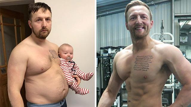 减肥前后惊人变化 成为了更好的自己