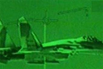 加拿大CF188战机在罗马尼亚领空拦截俄苏27战机