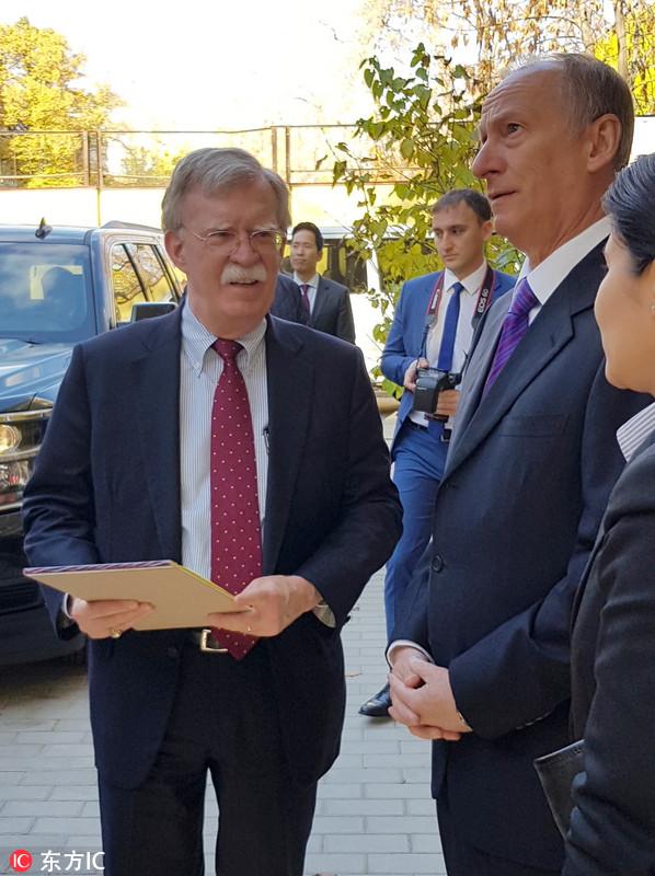 美国国家安全顾问博尔顿访俄 磋商退出《中导条约》问题