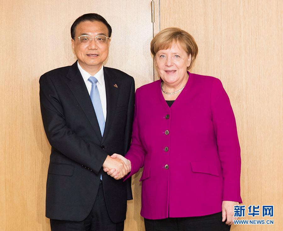 李克强会见德国总理默克尔