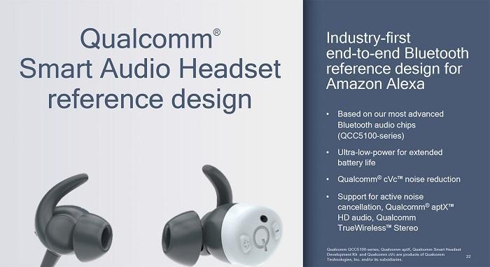 高通推出Alexa端到端蓝牙耳机参考设计
