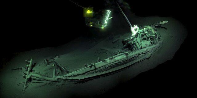 希腊商船2400多年前沉黑海 几乎完好无损