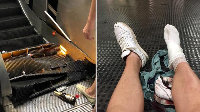 罗马一地铁站自动扶梯失控坠落 至少20人受伤