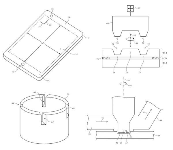 苹果曝光新专利:在屏幕上钻孔
