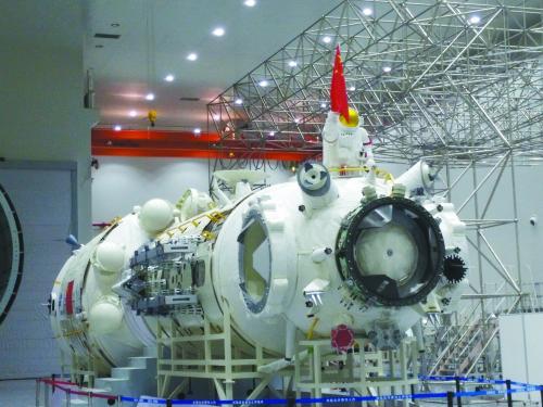 图片说明:中国空间站的核心舱将亮相珠海航展。