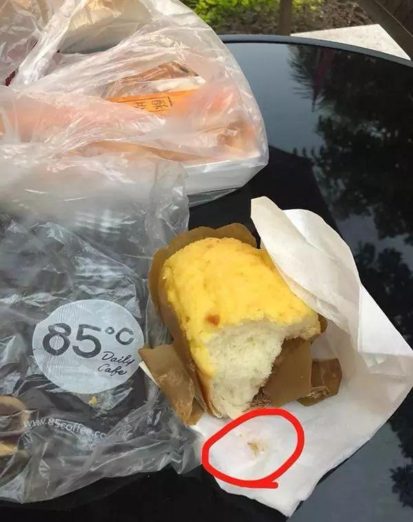 85度C又摊上事了 泉州一男子在面包里吃出指甲