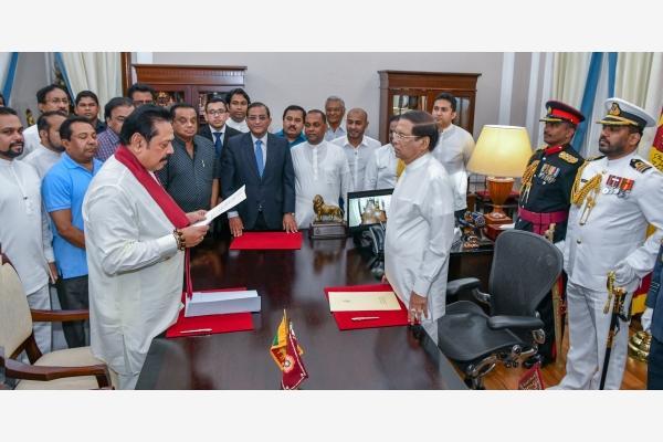 斯里兰卡前总统宣誓就任总理