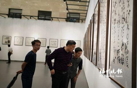通渭·福清书画作品联展举行 110件书画作品参展并义卖