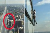 """""""法国蜘蛛侠""""徒手攀爬摩天大楼 登顶后被捕"""