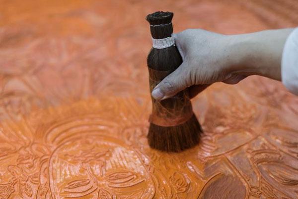 非遗传承——杭州十竹斋木版水印传承人刊印巨幅作品