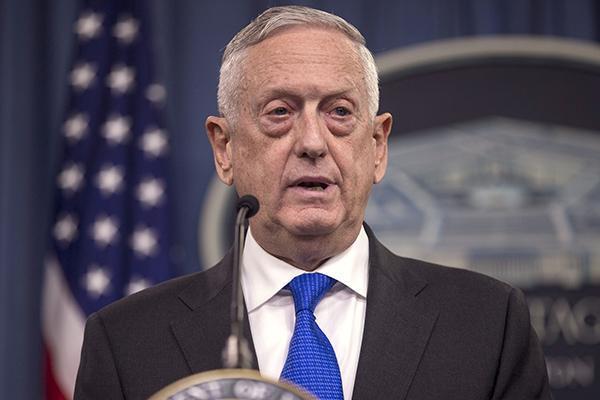 美国国防部长马蒂斯:下周将在华盛
