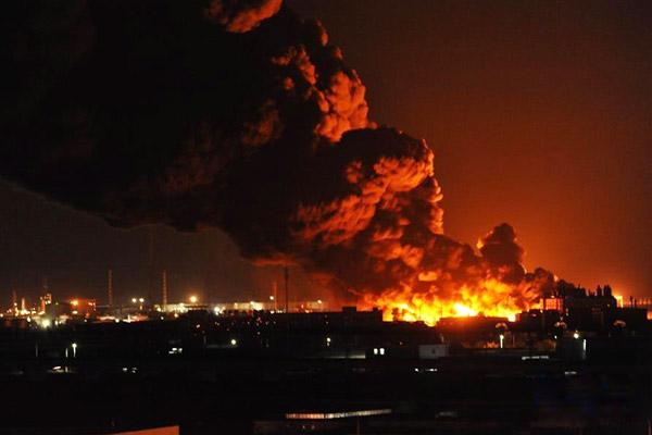 天津滨海新区一仓储物流公司起火暂无人员伤亡