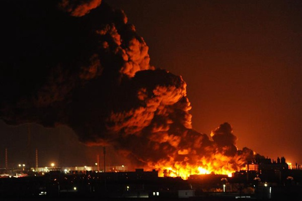 天津滨海新区一仓储物流公司起火