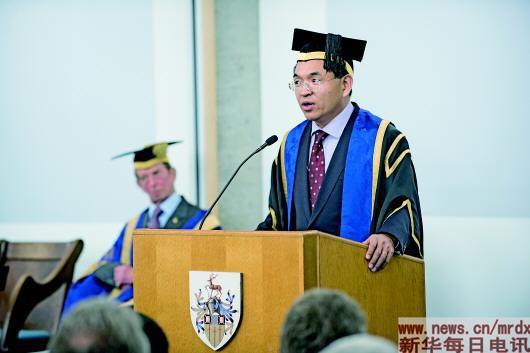 英国顶级高校首位华裔校长:我是改革开放的受益者