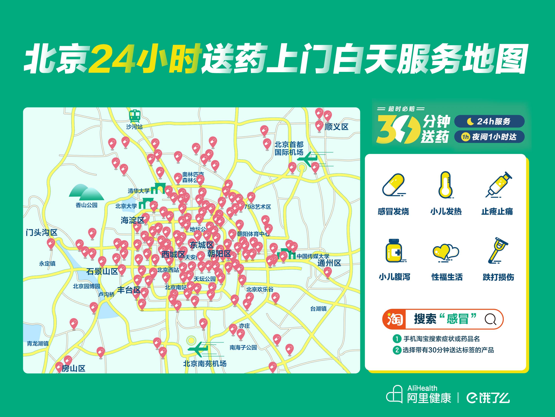 阿里健康披露新零售新进展:北广深可享30分钟急送