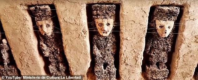 秘鲁古代城堡遗迹现800年前神秘木雕