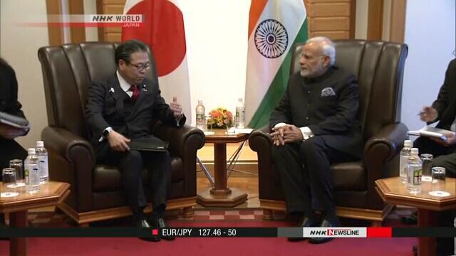 日本经产相与印总理一致同意加强经济合作