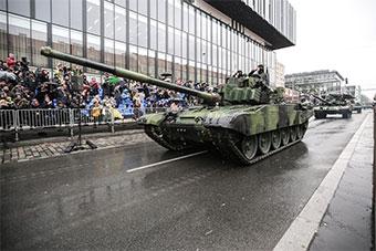 捷克举行捷克斯洛伐克成立100周年阅兵