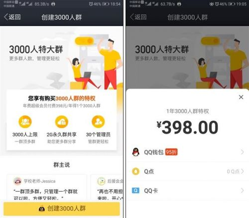 QQ上线3000人群聊功能 网友:QQ能赚钱是真的