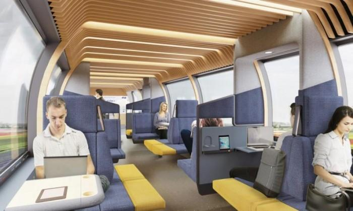 荷兰铁路公司设计出更适合通勤时工作的车厢