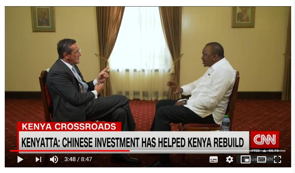 """被CNN记者追问""""中国债务陷阱"""" 肯尼亚总统:我们也从美国借钱"""