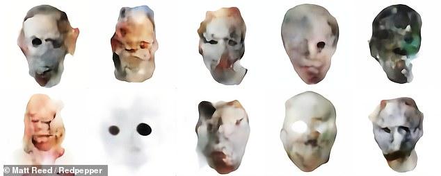 """AI设计出万圣节面具:效果""""毛骨悚然"""""""