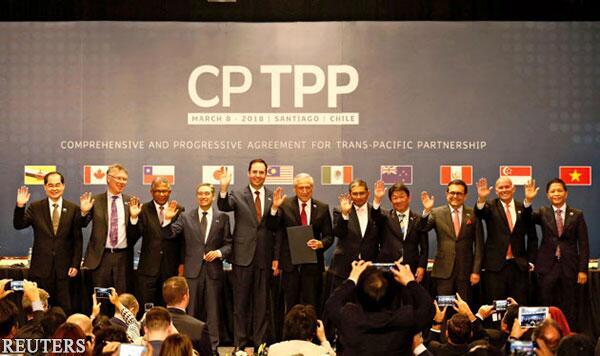 去除美国的TPP11将于12月30日生效