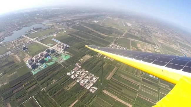 """▲""""启明星""""太阳能无人机10米翼展技术验证机试飞"""